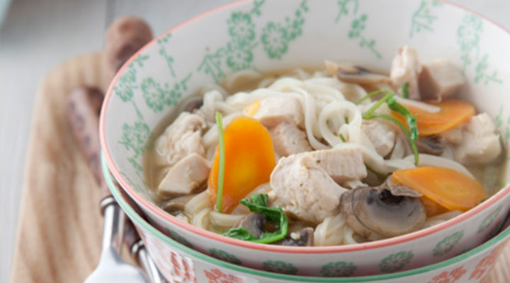 Diced Chicken Broth with Rice Noodles