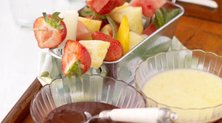 Duo of Chocolate Fondue with Fresh Summer Fruit