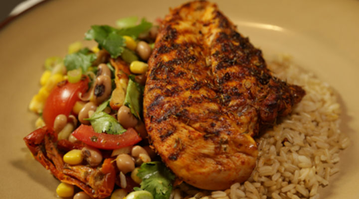 Tuesday 27th Jan - Cajun Grilled Chicken and Black Eyed Peas
