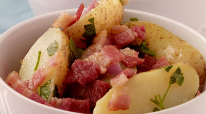 Potato Salad with Smoked Bacon and Shallot Vinaigrette