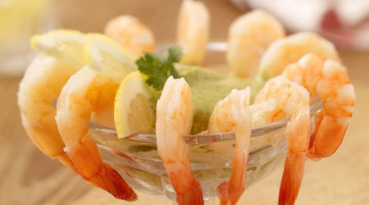 Prawns with Coriander Pesto Mayonnaise