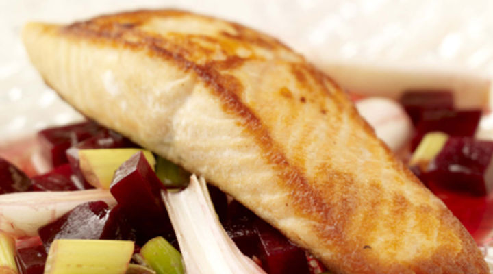 Pan-fried Darne of Salmon with Beetroot Salad