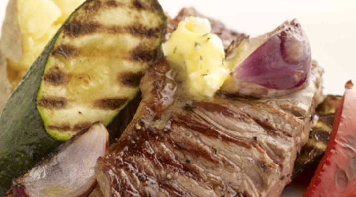The Perfect Barbecue Steak with Marinated Vegetables