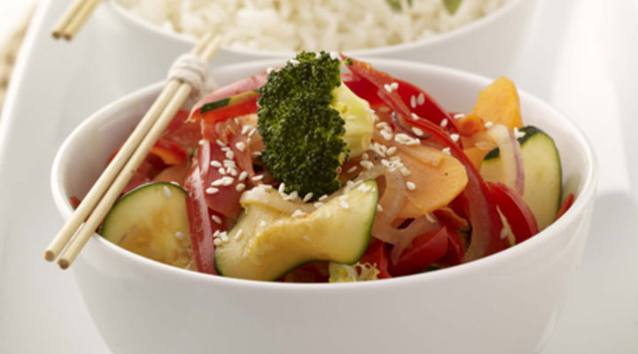 Vegetable Stir-fry with Buttered Rice