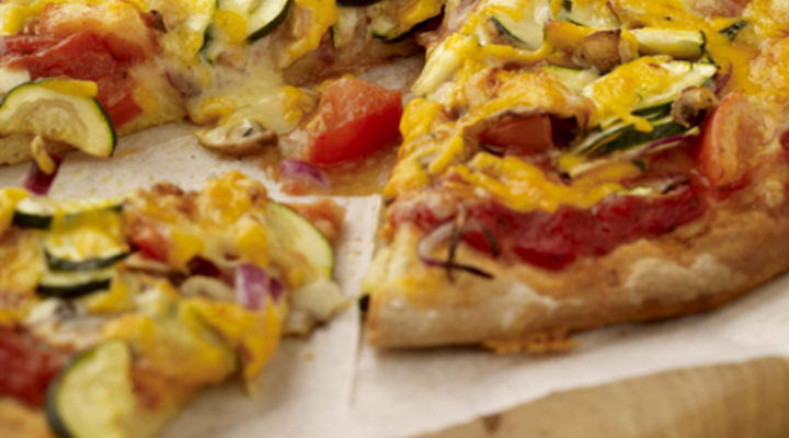 Vegetarian Soda Bread Pizza