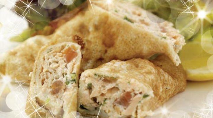 Salmon Crepe Rolls with Dill Crème Fraîche - SuperValu