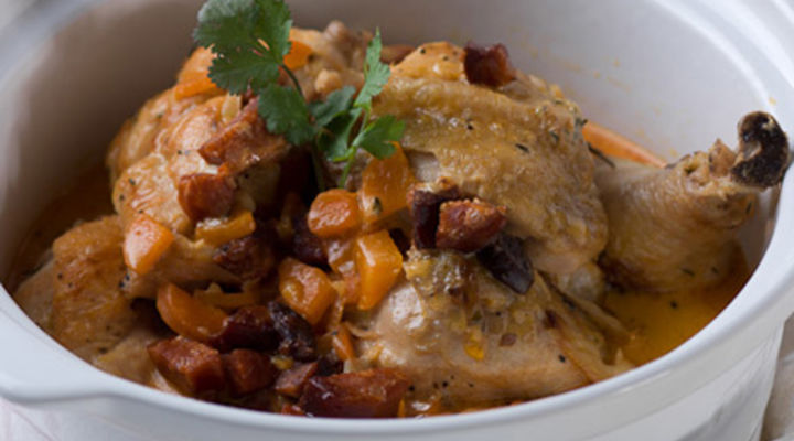 Creamy Chicken And Chorizo Casserole with Buttery Mash