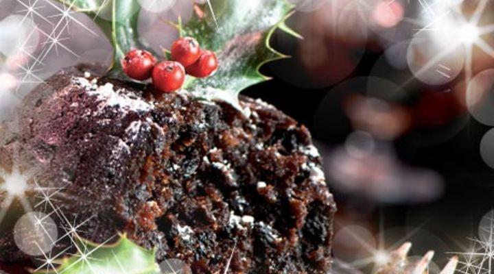 Christmas Pudding.Traditional Christmas Pudding