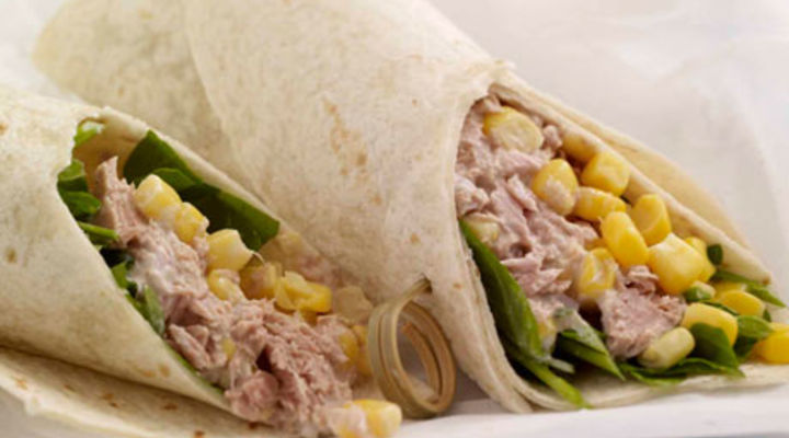 Tuna and Sweet Corn Tortilla Wrap