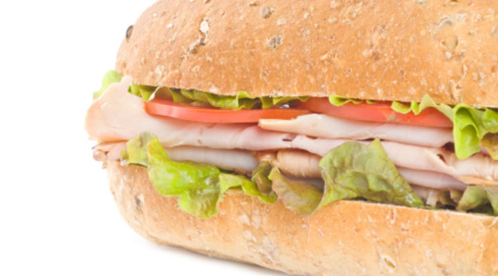 Turkey and Salad Sub