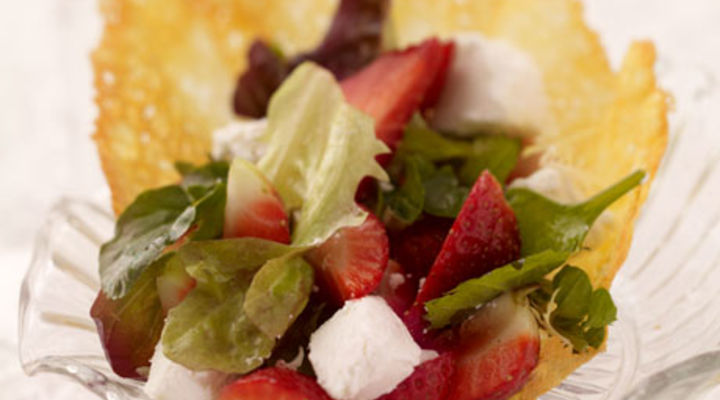 Wexford Strawberry Salad with Parmesan Cheese Basket