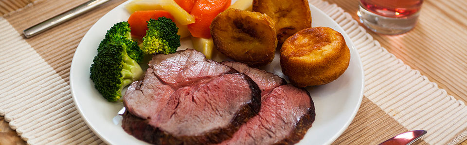 Roast beef with honey roast vegetables 960x300px