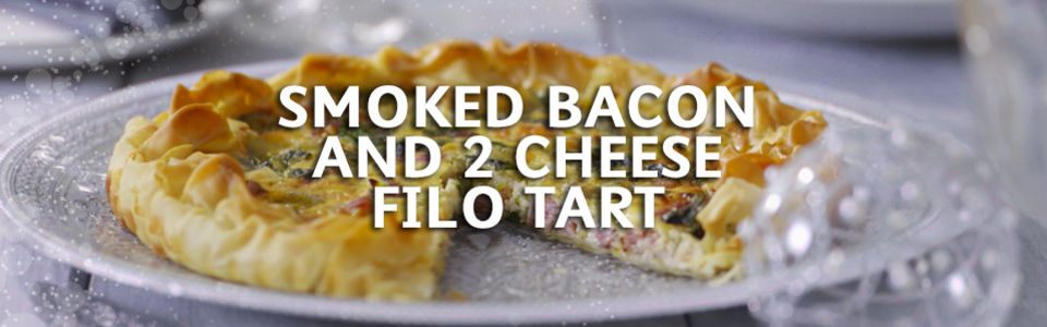 Smoked Bacon And 2 Cheese Filo Tart