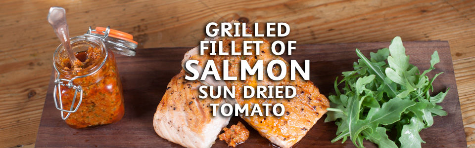 Grilled Salmon Red Pesto