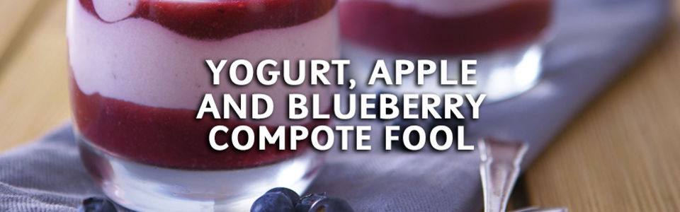 Yogurt Apple Blueberry Compote Fool
