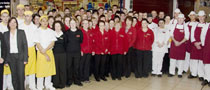 Group photo of staff at SuperValu, Clane