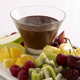 Chocolate Fondue and Fruit Pieces