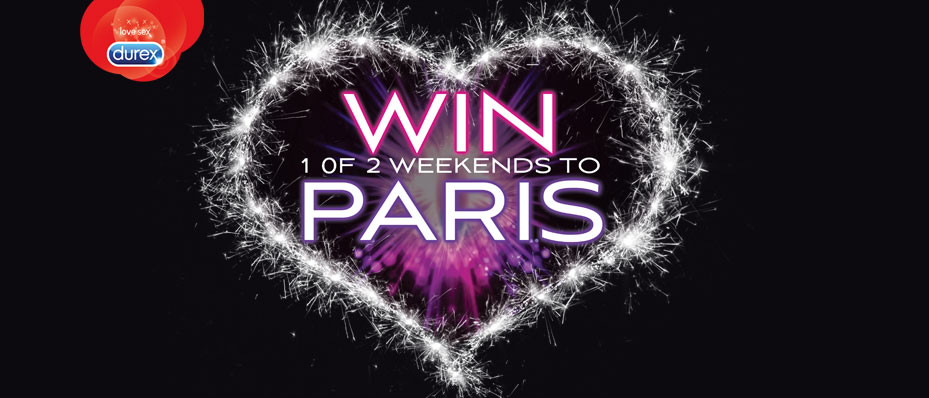 Win a Romantic Weekend Break to Paris courtesy of Durex