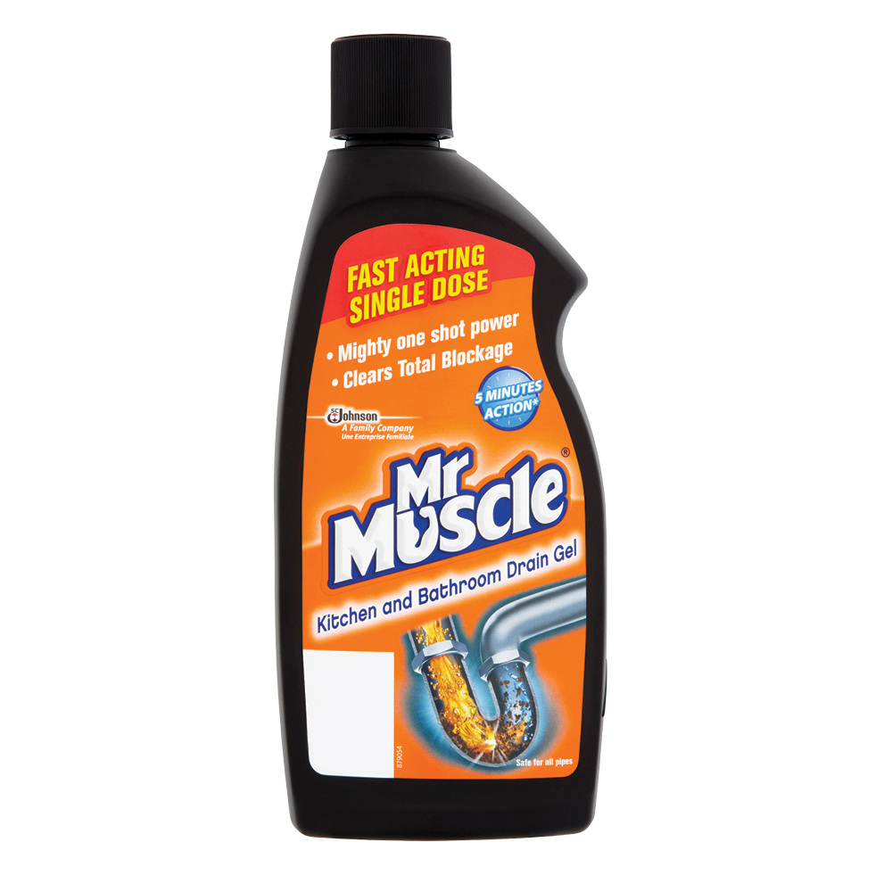 Mr muscle kitchen bathroom drain gel 500ml supervalu for Mr muscle idraulico gel
