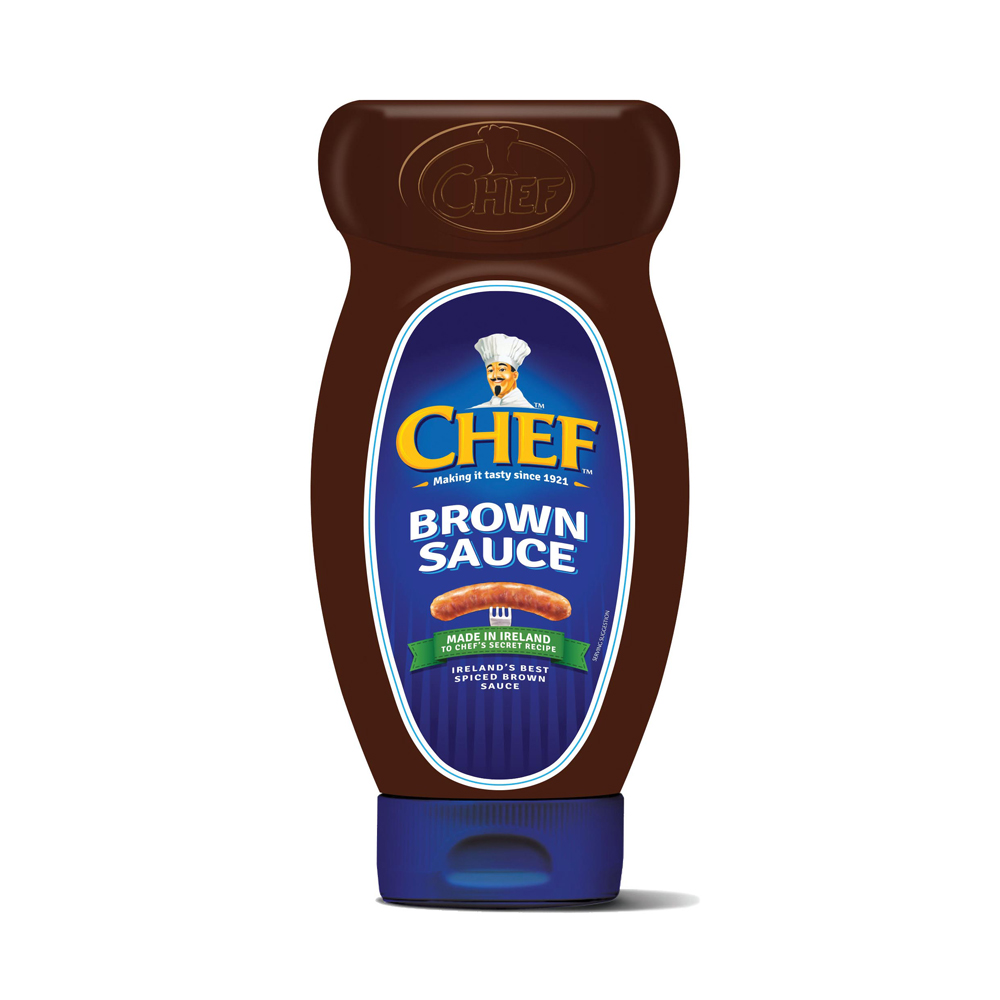 chef brown sauce squeezy 730g