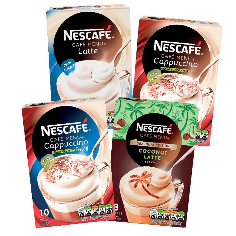 Nescafe Cafe Menu Flavours