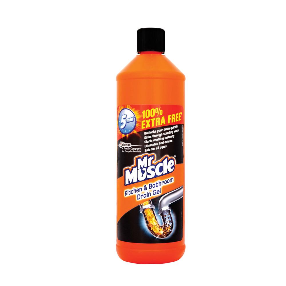 Mr muscle kitchen bathroom drain gel 1ltr supervalu for Mr muscle idraulico gel