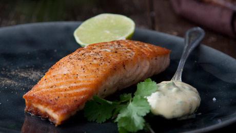 SuperValu | Pan-fried Salmon with Fresh Basil Mayonnaise |