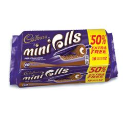 Cadbury Chocolate Mini Rolls 18 for 12