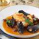 Monkfish with chorizo and mussel broth