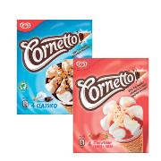 Cornetto Strawberrry/ Classic 4 Pack 360ml