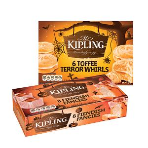 Mr Kipling Toffee Terror Whirls/ Fiendish Fancies 166g - 223g