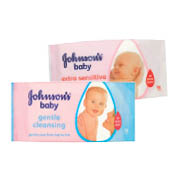 Johnson's Baby Wipes Gentle Cleansing/Extra Sensitive 56pce
