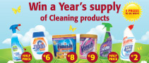 Win a Year's supply of Cleaning Products